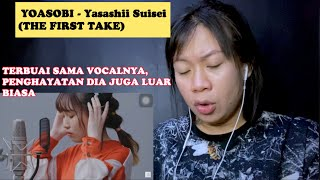 Download lagu YOASOBI - Yasashii Suisei (THE FIRST TAKE)   Reaction   Vocalnya bikin terbuai, penghayatannya kena