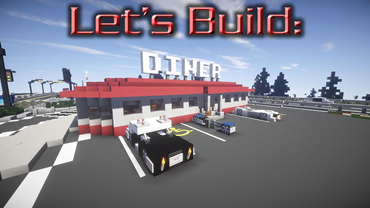 Let 39 s build a 50 39 s diner ep1 exterior youtube for 50 s diner exterior
