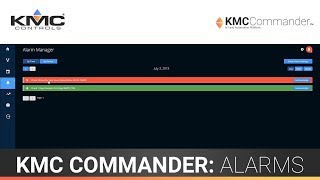 KMC Commander: Alarms
