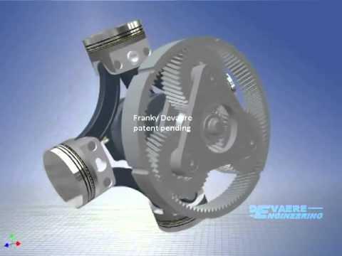 Radial Bi Rotary Balanced Piston Combustion Engine