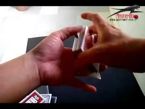 Hướng dẫn ảo thuật : Skill đưa lá bài ở giửa lên đầu bộ bài
