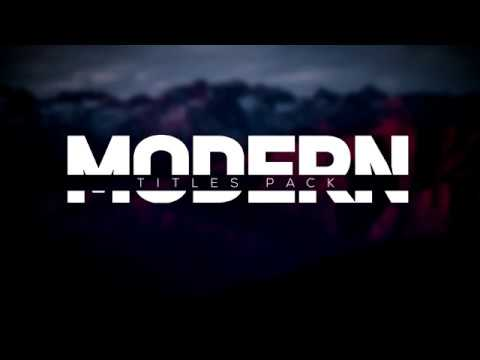 Modern Intro Titles Pack lll Free After Effects Templates