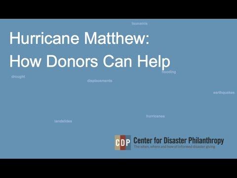 Hurricane Matthew: How Donors Can Help