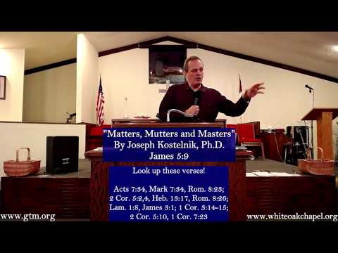 """""""Matters, Mutters and Masters"""" by Joseph Kostelnik, Ph.D."""