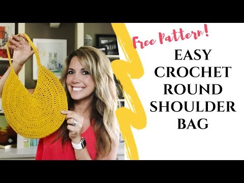 Easy Crochet Round Shoulder Bag from YouTube · Duration:  16 minutes 8 seconds