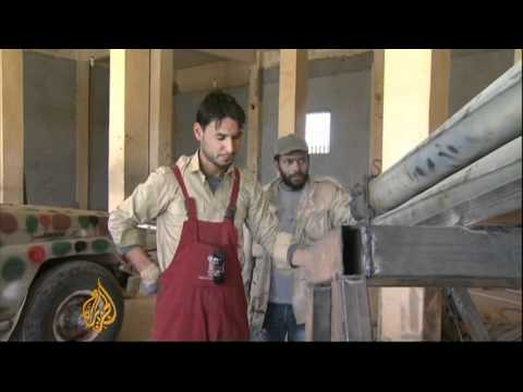 A look at Libyan rebels' workshop