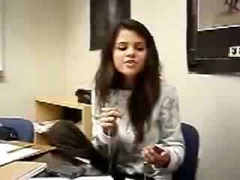 Selena Gomez Sings Rock Star by Hannah Montana