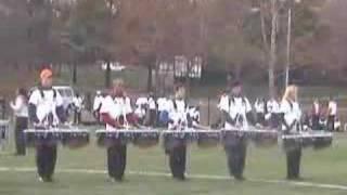 U.Va. Drumline - Show music - Gangsta Jazz mvt 1 practice