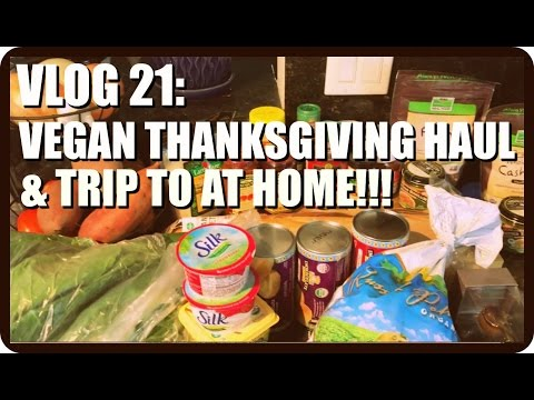 Vlog 21: Vegan Thanksgiving Grocery Haul, Trip to At Home With Sis, & My New Desk