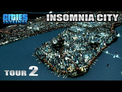 Cities Skylines PS4 Edition Insomnia City Tour 2 (Includes Day/Night Cycle Time Lapse)