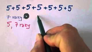 Różne sposoby zapisywania mnożenia