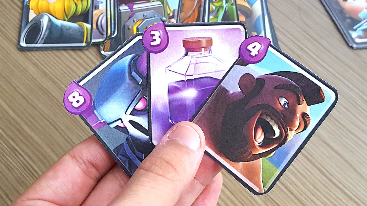 Faca Suas Cartas Reais Do Clash Royale Youtube