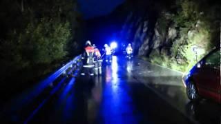 Unfall mit schwerverletzter auf der B171 in Zirl