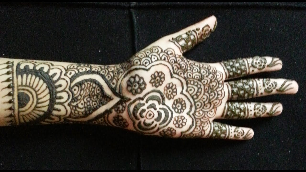 Mehndi Designs Simple Full Hand : Simple bridal henna easy full hand indian pakistani