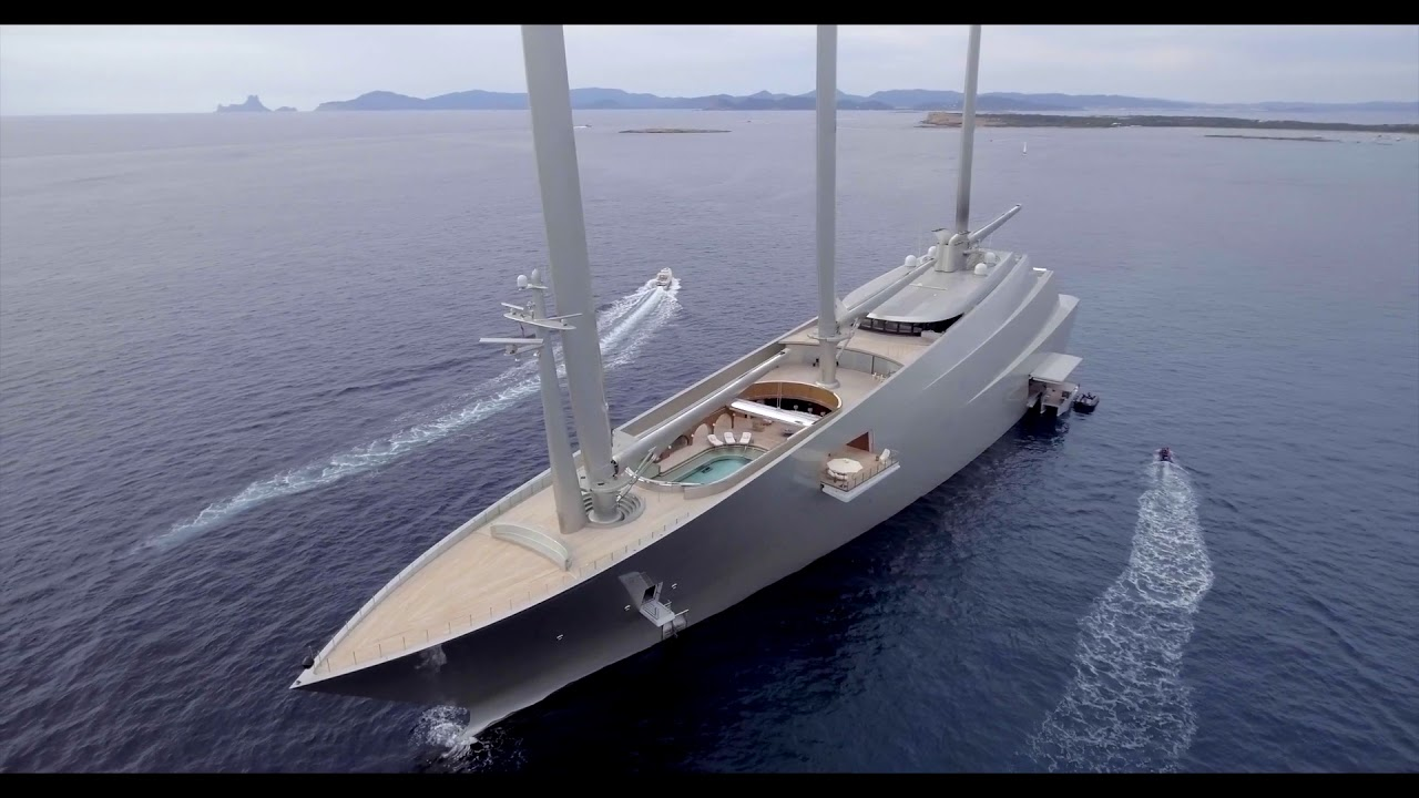 Sailing Yacht A >> World Largest Sailing Yacht A Aerial Drone View