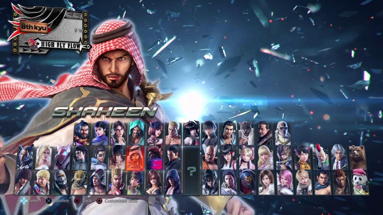 Tekken 7 Character Select With Leroy Smith And Ganryu Youtube
