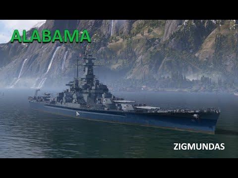 Линкор ALABAMA АЛАБАМА World of Warships обзор