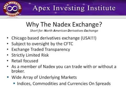 Few forex is not available in nadex