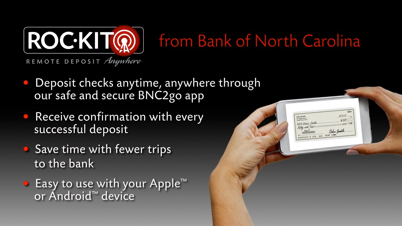 bank of north carolina mobile deposit