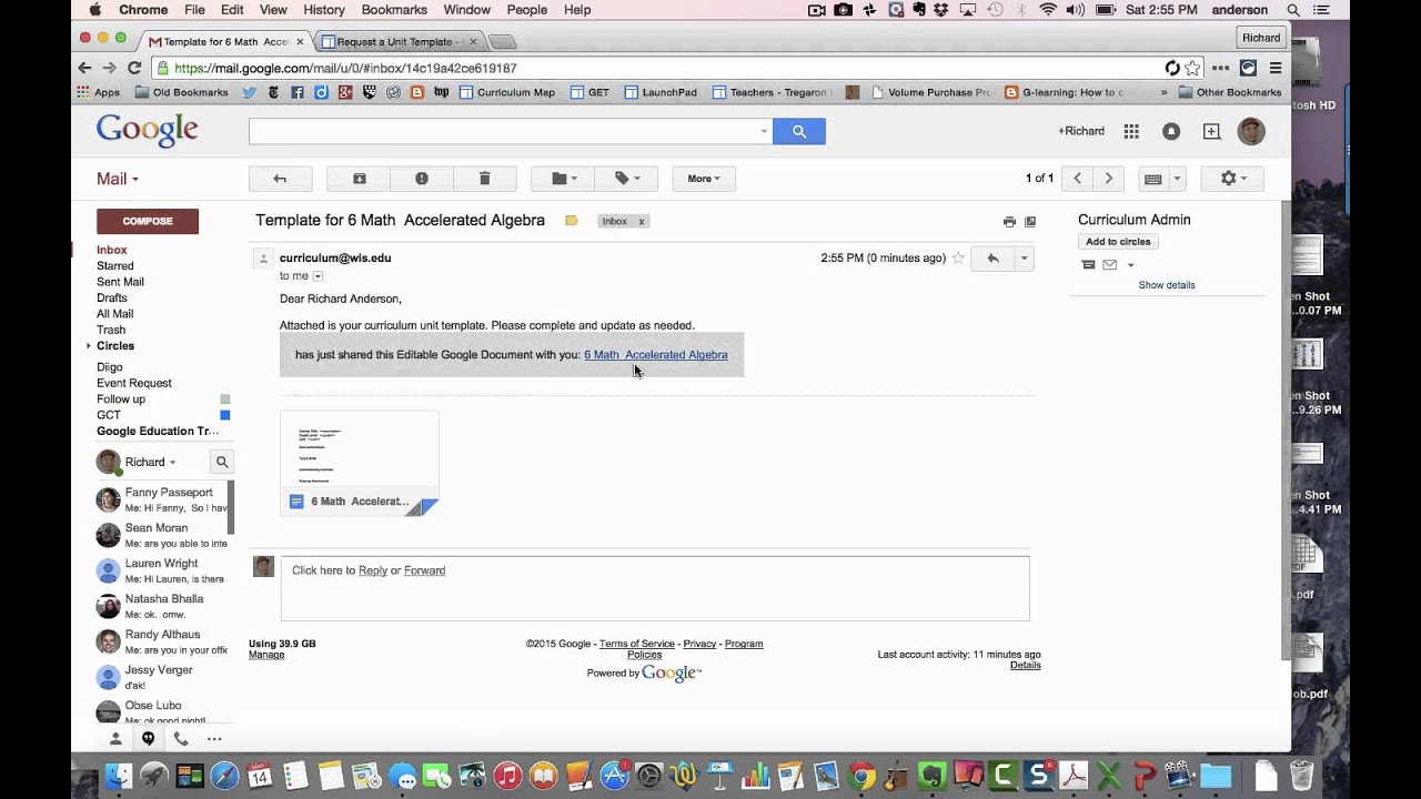 Walkthrough: Curriculum Mapping and Google Apps