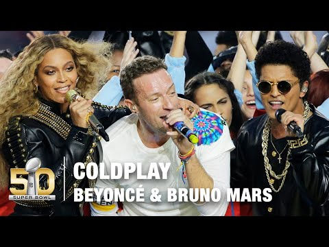 Coldplays FULL Pepsi Super Bowl 50 Halftime Show feat. Beyoncé & Bruno Mars! | NFL