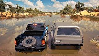 Forza Horizon 3 Online - Racha Subindo O Rio De Dodge Ram V12 BiTurbo VS Hoonigan - ZoiooGamer