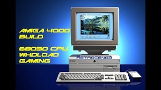 Commodore Amiga 4000 Build. 68030 WHDLoad gaming setup with 16GB CF card and Gotek drive