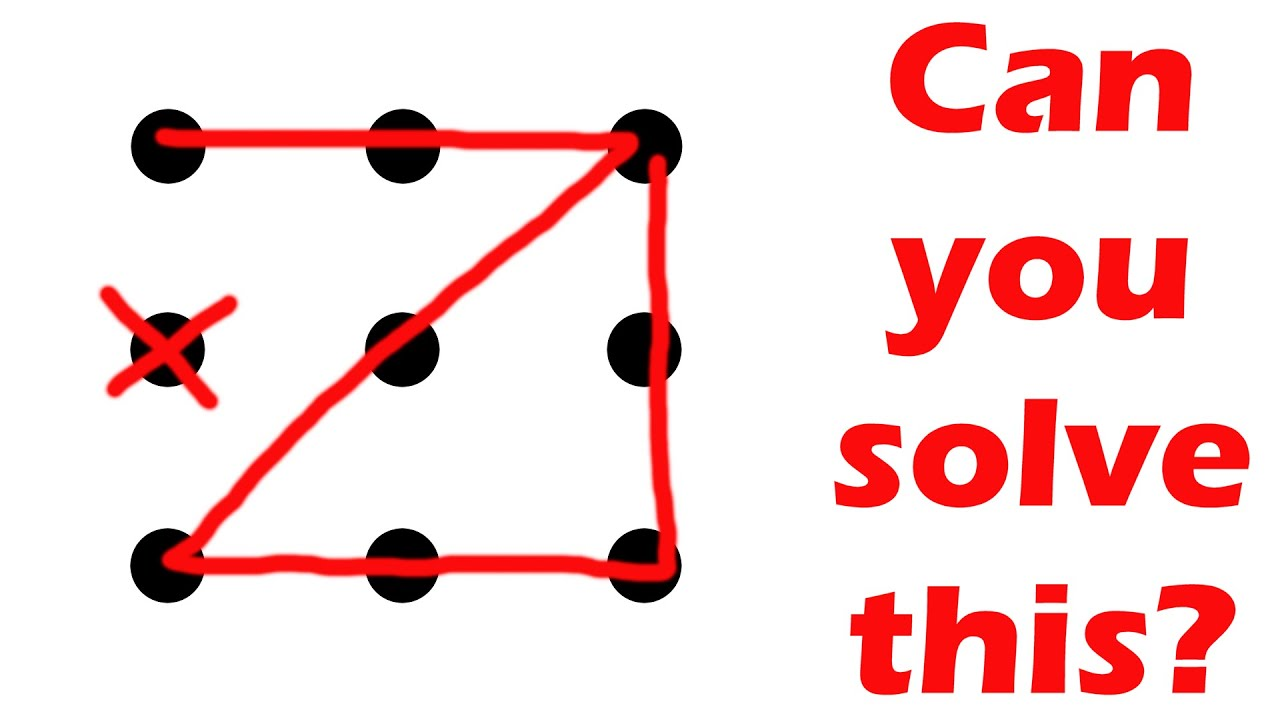 can you solve this puzzle nine dots four lines challenge youtube