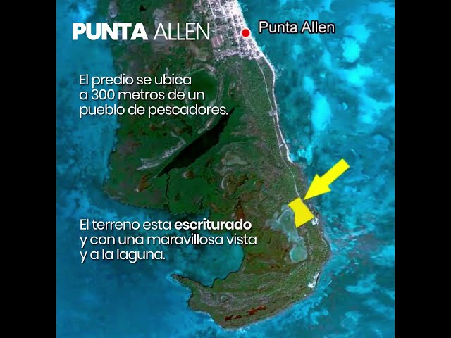 Vendo terreno en Punta Allen, dentro de la Biósfera de Sian Ka'an