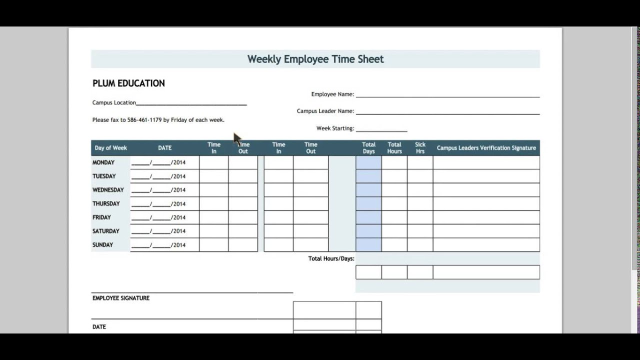 How To Fill Out A Timesheet - YouTube