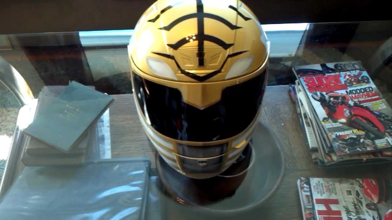 Custom Painted Airbrushed White Power Ranger Helmet By