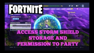 Fortnite - How to access Storm Shield Storage + Permission to party