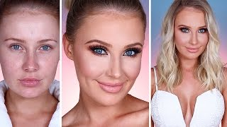 GRWM: NIGHT OUT! Tan, Makeup, Hair, Outfit! | Lauren Curtis