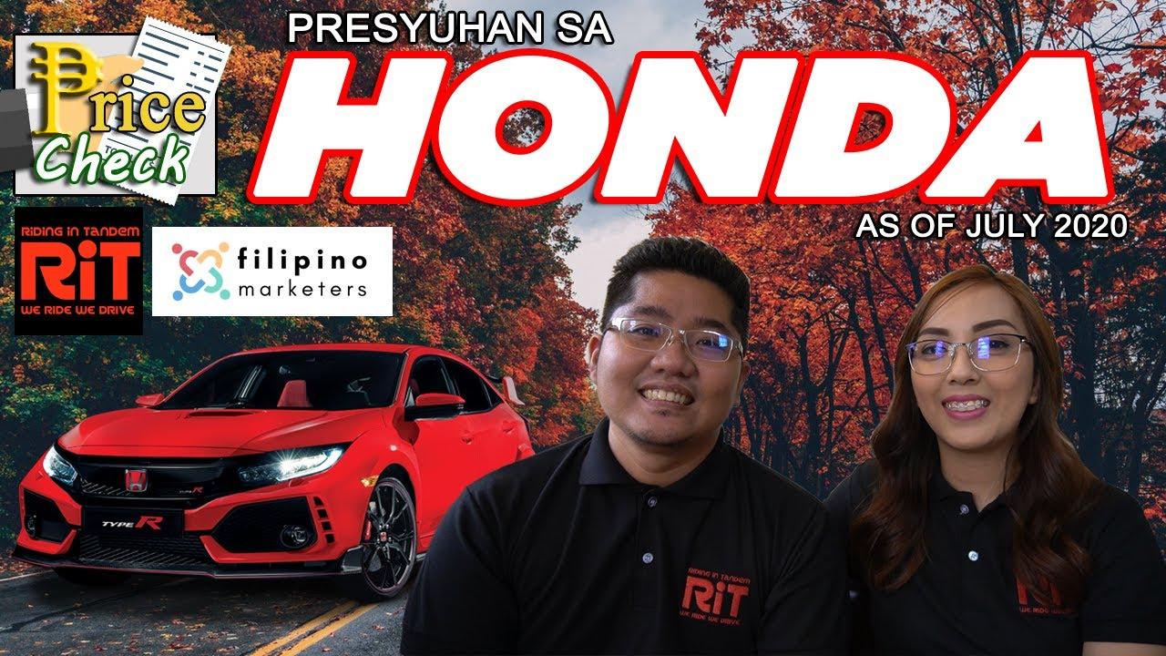 Honda Pricelist Philippines July 2020 Presyo Sa Honda Youtube