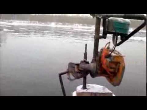 Как сделать лодочному мотор из бензопилы 828