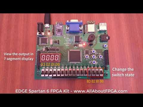 FPGA Tutorial - BCD to 7 Segment Display