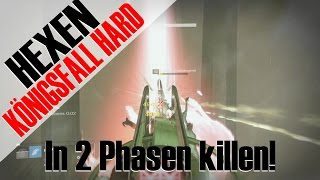 Königfall Hard Raid - Hexen in 2 Phasen killen! So geht's! Tipps + Tricks | Deutsch | HD
