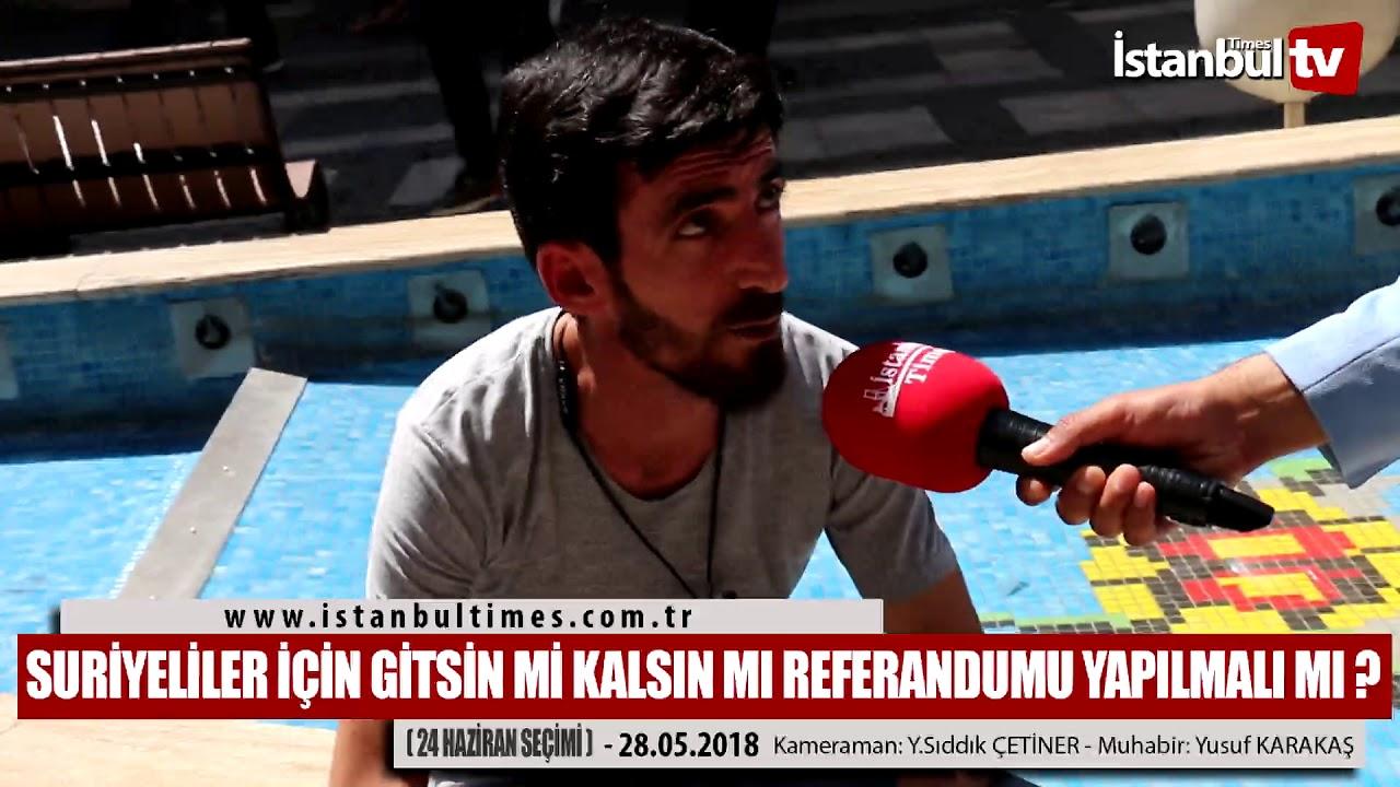 Suriyeliler için bir Referandum yapılmalı mı? (İstanbul-Avcılar)