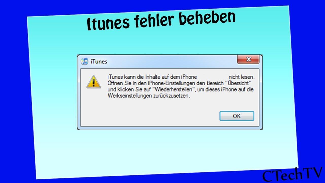 itunes fehler 42110 windows 10