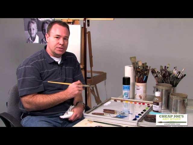 Art Materials Used by Professional Portrait Artist Brian Neher