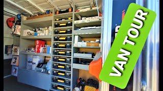 work van tour, hvac van, van shelving, van organizing, contractor van