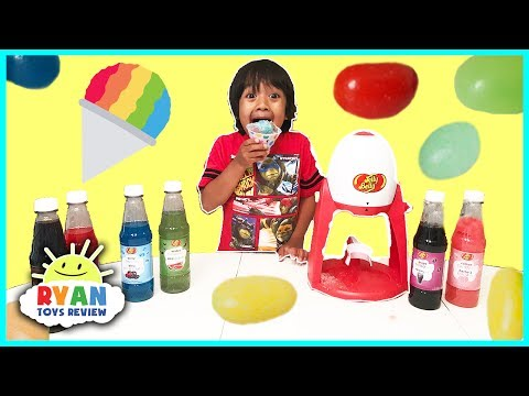 Thumbnail: Jelly Belly Candy Electric Snow Cone Maker! DIY homemade Ice Shaver with Ryan ToysReview
