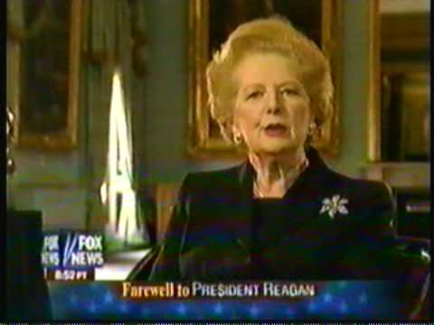 Eulogy To Reagan By Thatcher Youtube