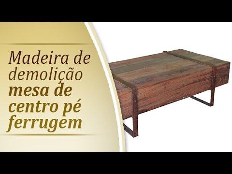 Movel rustico   Mesa de centro Ferrugem   Movel moderno em madeira de demolicao   Rusticos SP