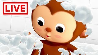 Little Baby Bum - Live | BATH SONG | Nursery Rhymes for Babies | ABC Songs and More Live Stream
