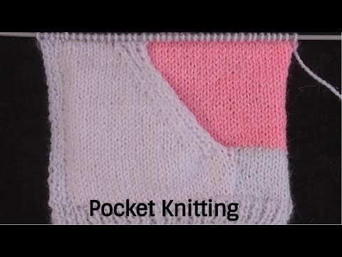 1e41951e3 Easy Pocket knitting for cardigan   Jacket- Type 2 (फंदे उठाकर)