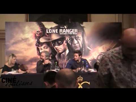 Lone Ranger - Conférence de presse / Press Junket Paris - G.Verbinski, J.Bruckheimer & A.Hammer