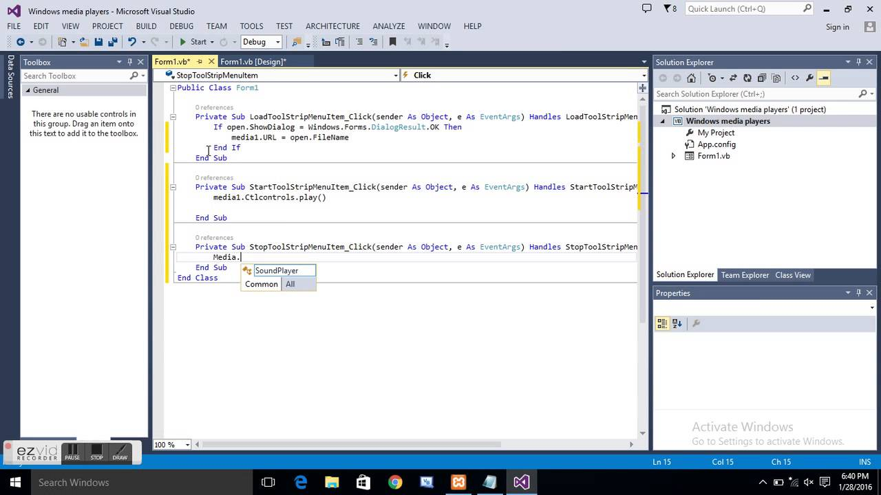 How To Make Your Own Windows Media Player In Visual Basic