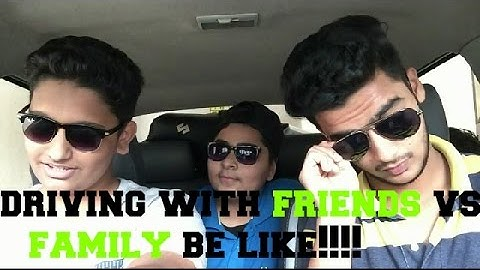 |COMEDY KINGS | DRIVING WITH FRIENDS VS FAMILY BE LIKE!!!