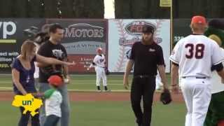 Tara the Hero Cat Throws Baseball at Minor League Game